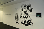 Hand painted mural to Northern Design Centre in Gateshead